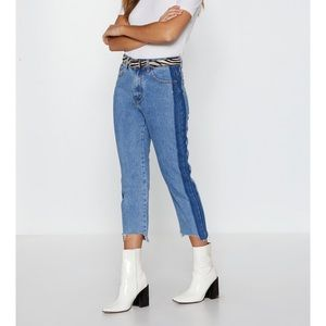 Nasty Gal Side to Side Jeans